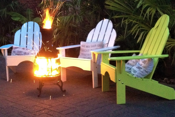 Adirondack Chair Lagerfeuer